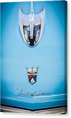 1956 Ford Parklane Wagon Hood Ornament - Emblem -0347c Canvas Print by Jill Reger