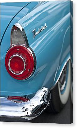 1956 Ford Thunderbird Taillight And Emblem Canvas Print by Jill Reger