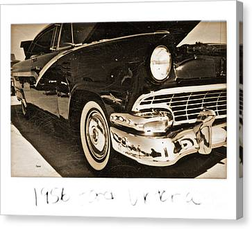 Transportion Canvas Print - 1956 Ford Victoria  by Steven Digman