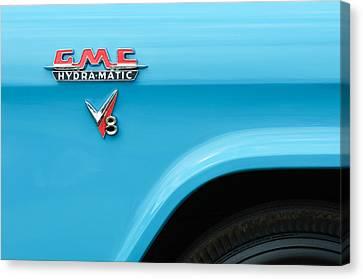 1956 Gmc 100 Deluxe Edition Pickup Truck Emblem Canvas Print by Jill Reger