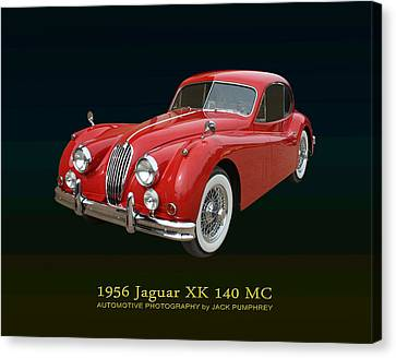 1956 Jaguar X K 140 M C Canvas Print by Jack Pumphrey