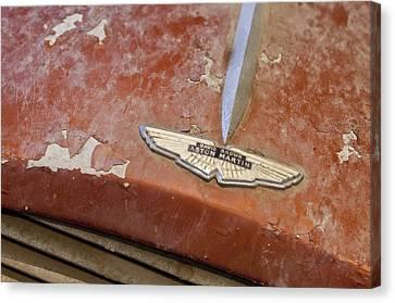 1957 Aston Martin Db2-4 Mkii Hood Emblem Canvas Print by Jill Reger