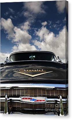 1957 Black Chevrolet Bel Air  Canvas Print by Tim Gainey