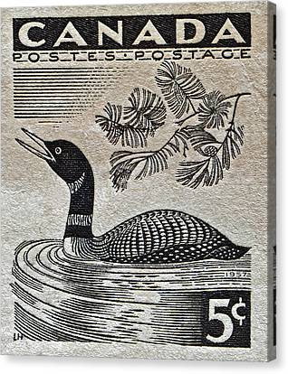 1957 Canada Duck Stamp Canvas Print