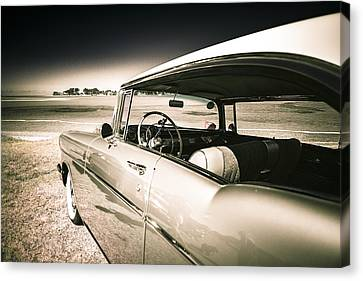 1957 Chev Bel Air Canvas Print by motography aka Phil Clark