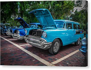 1957 Chevrolet 210 2 Door Stationwagon Painted  Canvas Print by Rich Franco