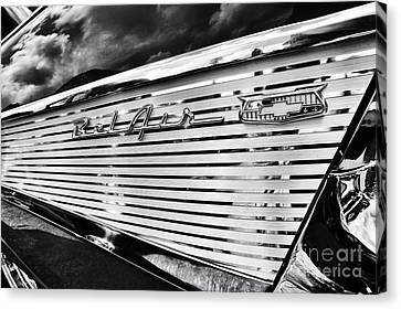 1957 Chevrolet Bel Air Monochrome Canvas Print by Tim Gainey
