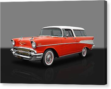 1957 Chevrolet Bel Air Nomad Canvas Print by Frank J Benz