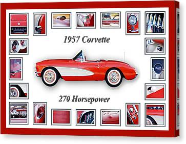 1957 Chevrolet Corvette Art Canvas Print