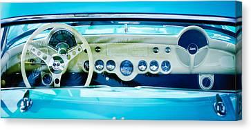 1957 Chevrolet Corvette Dashboard -0258c Canvas Print by Jill Reger