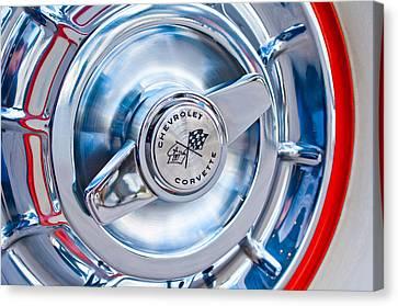 1957 Chevrolet Corvette Wheel 3 Canvas Print by Jill Reger