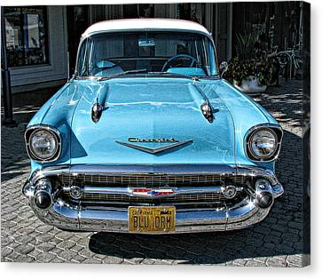 1957 Chevy Bel Air In Turquoise Canvas Print