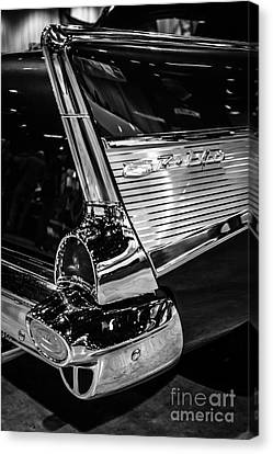 1957 Chevy Bel Air Tail Fin Canvas Print by Paul Velgos