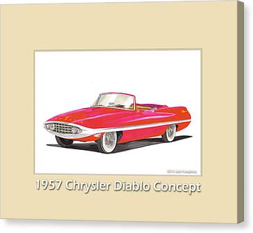 1957 Chrysler Diablo Convertible Coupe Canvas Print