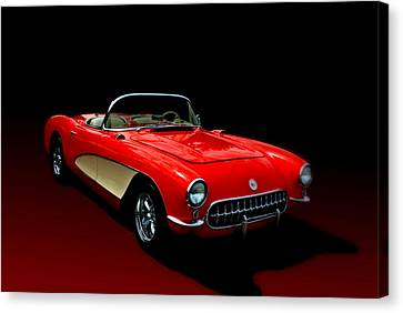 1957 Corvette Canvas Print by Tim McCullough