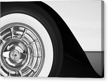 1957 Corvette Wheel Canvas Print by Jill Reger