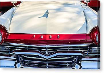 1957 Ford Custom 300 Series Ranchero Grille Emblem Canvas Print by Jill Reger