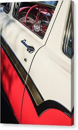 1957 Ford Custom 300 Series Ranchero Steering Wheel Canvas Print by Jill Reger