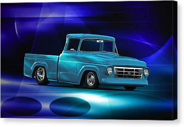 1957 Ford F100 Pick Up Canvas Print by Dave Koontz