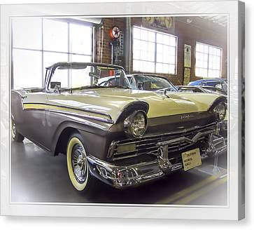 1957 Ford Fairlane Canvas Print by Steve Benefiel
