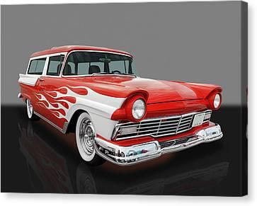 1957 Ford Wagon Canvas Print by Frank J Benz