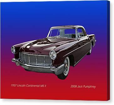 1957 Lincoln M K I I Canvas Print by Jack Pumphrey