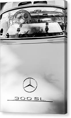 1957 Mercedes-benz Gullwing Rear Emblem Canvas Print