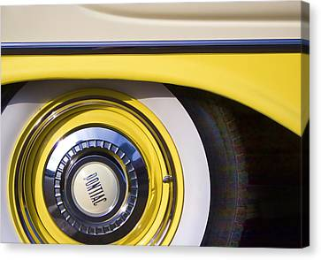 Fifties Automobile Canvas Print - 1957 Pontiac Starchief Wheel Cover by Carol Leigh