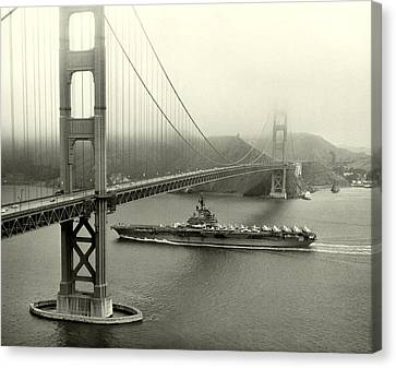 1957 Uss Hancock In San Francisco Canvas Print