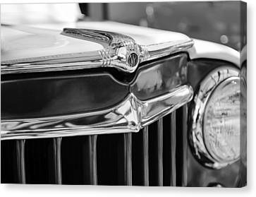 1957 Willys Wagon Grille Emblem Canvas Print by Jill Reger