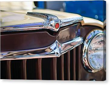 1957 Willys Wagon Grille Canvas Print by Jill Reger