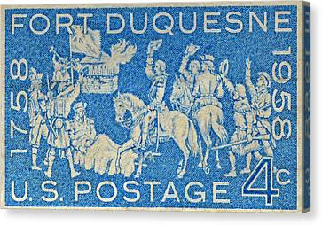 1958 Battle Of Fort Duquesne Stamp Canvas Print