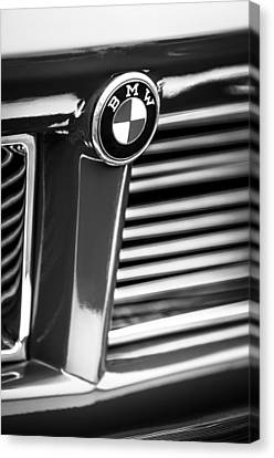 1958 Bmw 3200 Michelotti Vignale Roadster Grille Emblem -2414bw Canvas Print by Jill Reger