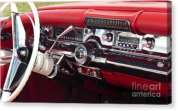 1958 Buick Special Dashboard Canvas Print by Tim Gainey