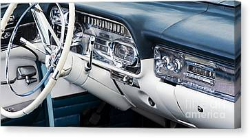 Speedometer Canvas Print - 1958 Cadillac Dashboard by Tim Gainey