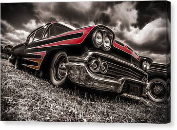 1958 Chev Biscayne Canvas Print by motography aka Phil Clark
