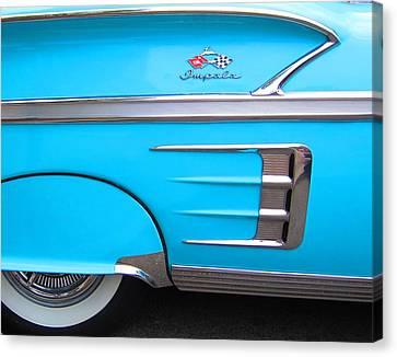 1958 Chevrolet Impala Canvas Print by Sven Migot