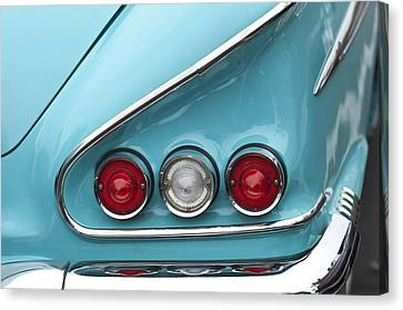 1958 Chevrolet Impala Taillights  Canvas Print by Jill Reger