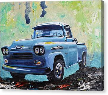 1958 Chevy Apache Pickup Truck Canvas Print by Sheri Wiseman