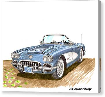 1958 Corvette Roadster Canvas Print
