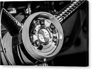 1958 Edsel Pacer Convertible Steering Wheel Transmission -0895bw Canvas Print
