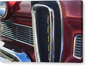 1958 Edsel Pacer Grille 2 Canvas Print by Jill Reger