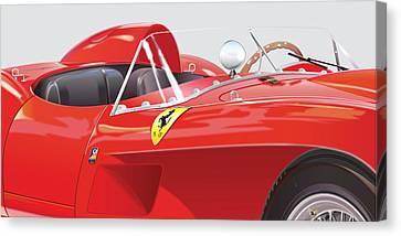 1958 Ferrari 250 Testa Rossa Detail Canvas Print by Alain Jamar