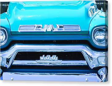 1958 Gmc Series 101-s Pickup Truck Grille Emblem Canvas Print by Jill Reger
