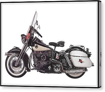Pleasure Driving Canvas Print - 1958 Harley-davidson Flh Duo-glide by Maciek Froncisz