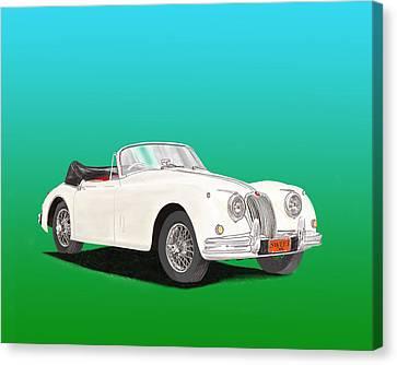 1958 Jaguar X K 150 S Cabriolet Canvas Print by Jack Pumphrey
