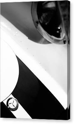 Knobby Canvas Print - 1958 Lister-chevrolet 'knobby' Sports-racing Two Seater Hood Emblem by Jill Reger