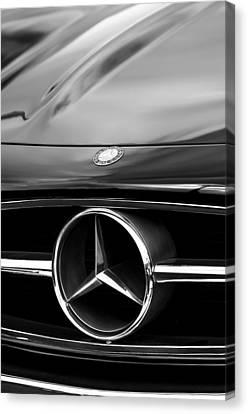 1958 Mercedes-benz 300sl Roadster Grille Emblem Canvas Print