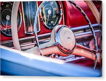 1958 Mercedes-benz 300sl Roadster Steering Wheel -1131c Canvas Print by Jill Reger