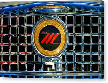 1958 Nash Metropolitan Hood Ornament 3 Canvas Print